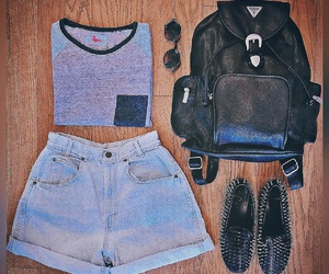 outfit, baseball tee, and hipster outfit image