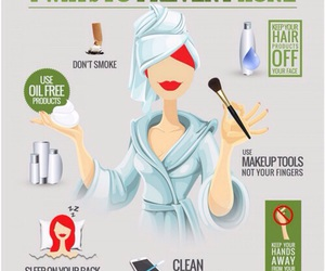 beauty, acne, and tips image