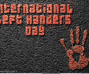 left handers day and fancygreetings image