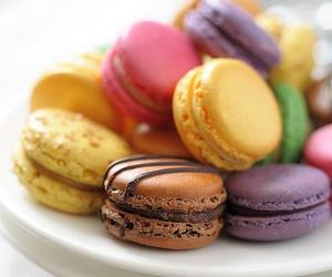 brown, violet, and macaron image