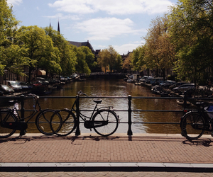 amsterdam, netherlands, and bikes image