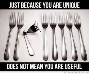 unique, fork, and funny image