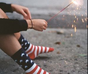 usa, socks, and fireworks image