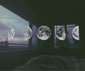 moon, grunge, and night image