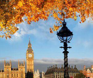 london, autumn, and Big Ben image