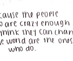 quote, people, and crazy image