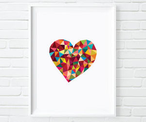 art print, inspiration, and love heart image