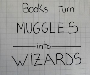 books, draws, and harry potter image