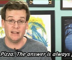 pizza, john green, and quote image