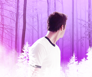 purple, stiles, and white image