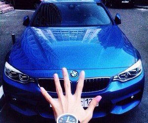 bmw, car, and blue image