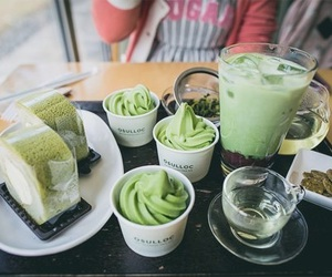 green tea, food, and yummy image