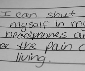 headphones, pain, and music image