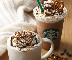 starbucks, coffe, and food image