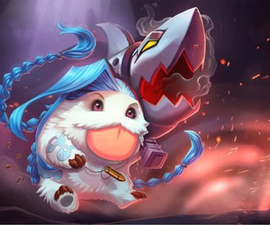 jinx, poro, and league of legends image