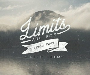 quote, limits, and typography image