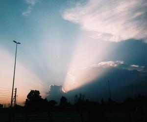 clouds, landscape, and light image