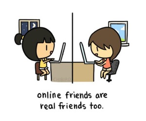 friends, online, and internet image