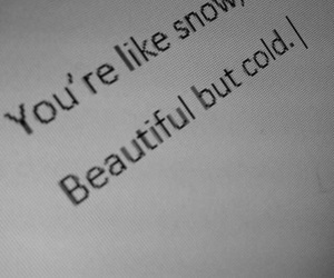 cold, quotes, and snow image
