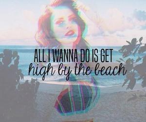 lana del rey, beach, and Lyrics image