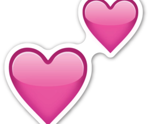 heart, emoji, and pink image