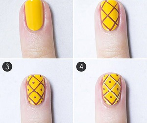 nails, pineapple, and nail art image