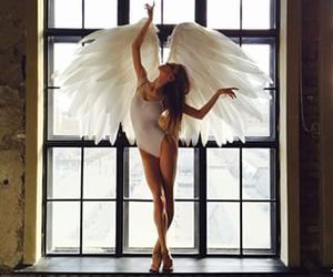 angels, ballerina, and wings image