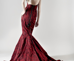 blonde, evening gown, and girl image