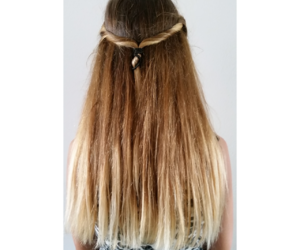 blonde, brunette, and ombre image