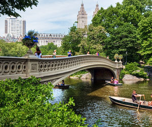 Central Park, new york, and bow bridge image