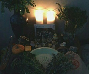 altar, wicca, and pagan image