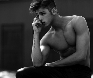 black and white, handsome, and sexy image
