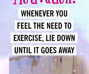 monday, exercise, and quote image