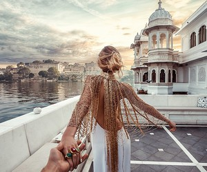 travel, dress, and couple image