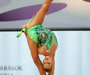 clubs, green, and rhytmic gymnastic image