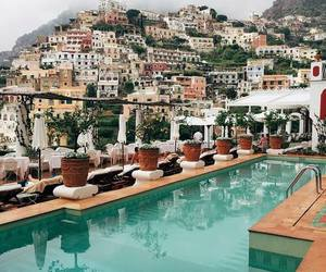 pool, travel, and italy image