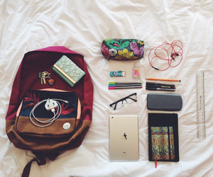 school, bag, and study image