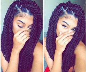 hair, braids, and twist image