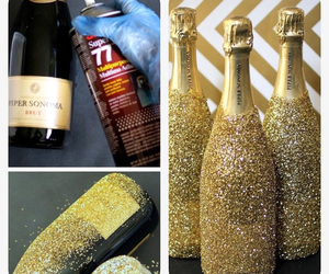 champagne, diy, and glitter image