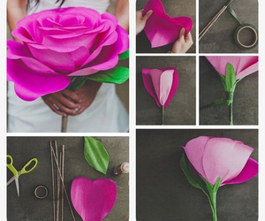 diy, flower, and Paper image