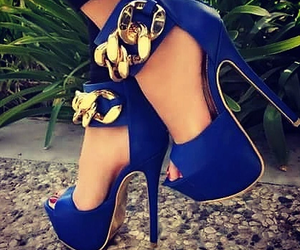 blue, shoes, and high heels image