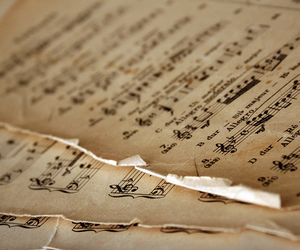 music, notes, and vintage image