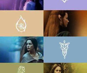 eowyn, galadriel, and arwen image