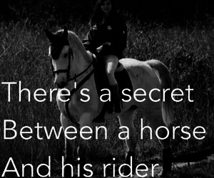friend, horse, and rider image