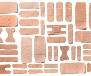 aesthetic, bandages, and beige image