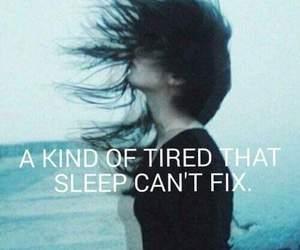 tired, grunge, and sleep image