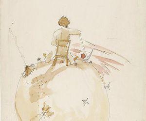 art, drawning, and le petit prince image