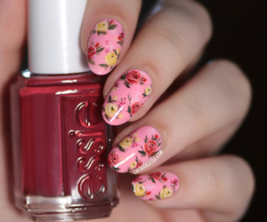 flowers, lacquer, and manicure image