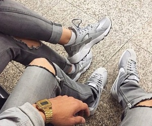 couple, grey, and cute image