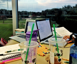 coffe, study, and tea image
